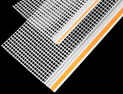 Профиль примыкающий оконный ПВХ <span>самоклеящийся с сеткой</span>