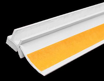 Профиль примыкающий оконный ПВХ СТАНДАРТ<span>с пыльником /ПРОДУКТ ЗАПАТЕНТОВАН/</span>