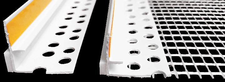 Профиль примыкающий ПВХ УСИЛЕННЫЙ <span>с армирующей сеткой</span>