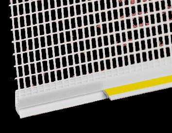 Профиль примыкающий оконный ПВХ СТАНДАРТ <span>с пыльником и сеткой</span>