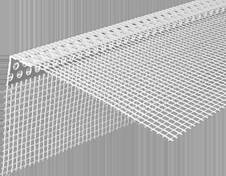 Профиль угловой ПВХ <span>с армирующей сеткой</span>